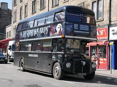 Ghost Bus Tours Limited, Edinburgh Necrobus, AEC Routemaster Park Royal CUV343C, formerly RML2343, at Dalry Road, Edinburgh, on 30 April 2017. (Robin Dickson 1) Tags: ghostbustours busesedinburgh parkroyal routemaster rml2343 cuv343c