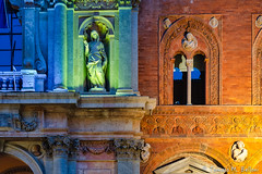 Lights (tomaso.belloni) Tags: building color colorful facade house night nobody photography window