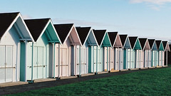 Southsea Beach Huts (Song-to-the-Siren) Tags: filmcamera analogue classiccamera zenit 19 zenit19 film 35mm ektar100 kodakektar100 southcoast guildford march april 2018 beachhuts