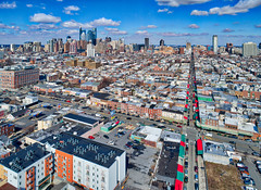 Italian Market and Center City Philly (Darren LoPrinzi) Tags: philadelphia philly aerial dji drone phantom4pro phantom4proplus italianmarket 9thstreetitalianmarket 9thstreetmarket market southphilly centercity skyline overview awnings rooftops washingtonave