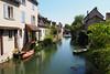 Au bord de l'Eure 2 (atnag) Tags: eure france chartres river water riviere eau paisible calme calm peaceful boat bateau canoe barque spring sun