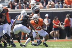 Oklahoma State Cowboy Football Spring Game, Saturday, April 28, 2018, Boone Pickens Stadium, Stillwater, OK. Bruce Waterfield/OSU Athletics (OSUAthletics) Tags: 2018 big12 cowboys football oklahomastateuniversity osu pokes spring springgame