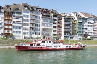 Feuerlöschboot Christophorus Rettung Basel Stadt Switzerland 2018