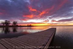 Good Morning! (RondaKimbrow) Tags: loveland colorado sunrise dock pier lake water beautiful awesome colorful landscape clouds unitedstates getoutside howistartmymornings wouldnotwantitanyotherway