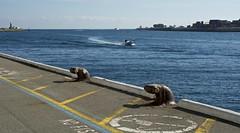 Headin' In (Padmacara) Tags: australia fremantle river water boat bollard lighthouse d7100 nikkor1824mm