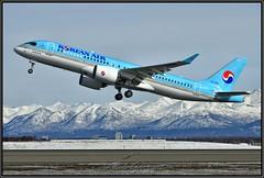 HL7201 Korean Airlines (Bob Garrard) Tags: hl7201 korean airlines bombardier bd500 cseries cs300 anc panc