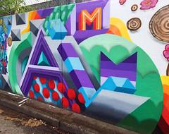 Calm (wiredforlego) Tags: graffiti mural streetart urbanart aerosolart publicart portland oregon pdx calm dominatah