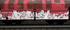 graffiti on freights (wojofoto) Tags: amsterdam nederland netherland holland graffiti streetart freighttraingraffiti freighttrain fr8 cargotrain vrachttrein wojofoto wolfgangjosten powey