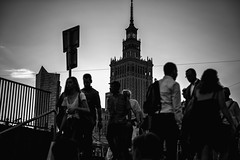 Varying personalities  250 365 (ewitsoe) Tags: city cityscape evening ewitsoe spring street streetphotography warssaw warszawa erikwitsoe night urban varyingpersonalities people crowd mono monochrome bnw blackandwhite