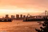 Raibow Bridge (eliseteshiraishi) Tags: background crepúsculo japan landscape toquio colorful japanculture japão outdoor pordosol postcard raibonbridge sumidakawa sunset travel traveldestination minatoku tōkyōto barcos