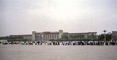 Waiting to see Mao - Beijing - China 1991 (wietsej) Tags: waiting see mao beijing china 1991 olympus om4 analoge film srl people city street
