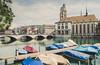 Summer in the City II (helbldan) Tags: grossmünster zurich switzerland city summer water reflection longexposure boats