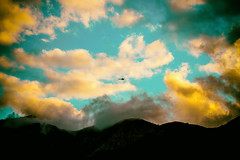 Circumstances Cast Our Fate, Maybe Wrong, Maybe Right (Thomas Hawk) Tags: america angelesnationalforest bigtujungacanyon california losangeles southerncalifornia tujunga usa unitedstates unitedstatesofamerica clouds helicopter fav10 fav25