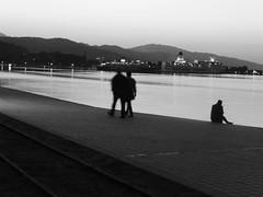 Αίγιο!!  P1040582 (amalia_mar) Tags: bw blackandwhite silhouettes people aigioachaiagreece sea sky 7dwf