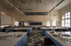 Labs (Camera_Shy.) Tags: derelict old building disused urban exploration abandoned laboratory classroom ue decayed