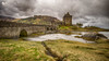 Eilean Donan (L A H Photography) Tags: landscape castle scotland g80 clouds pov water loch colourful contrast mood rugged uk sky grass bridge