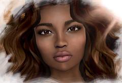 ZOE head skin darkest (Alea Lamont) Tags: ndmd ethnic skin zoe black females afroamerican african female vista lia bento head analog dog hair luna