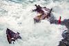 (elsvo) Tags: shipwreck self portrait selfportrait elsvo elsvanopstal ocean beach waves wind storm redhead reddress ship wreck stones