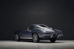 1963 CHEVROLET Corvette Stingray Coupe (aJ Leong) Tags: 1963 chevrolet corvette stingray coupe 118 autoart classic cars wintage vehicles automobiles garage light blue 60s scale model photography diecast collector c2 vette