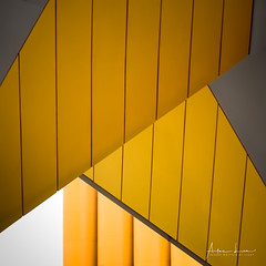Yellow Submarine XI (Alec Lux) Tags: pietblom rotterdam architecture building city cube cubism design detail details fragment fragments geometric geometry hexagon holland house houses kaleidoscope kubuswoningen netherlands structure urban water