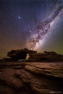 Milky Way rising over Nature's Window