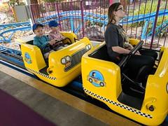 April 28: Crabby Cabs (earthdog) Tags: 2018 googlepixel pixel androidapp moblog cameraphone greatamerica amusementpark amusementride rollercoaster ride santaclara car project365 3652018 themepark needstitle needstags park
