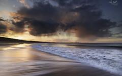 Sunset and Rain (Alex365pix) Tags: seatonsluice blyth seascapes sea sunset clouds coast northumberland northeastcoast nikon le leefilters landscape weather waves benro reflections