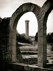 Fiesole Arch (Feldore) Tags: baths fiesole florence italian italy roman arch architecture fauxvintage sepia archaeological tower feldore mchugh em1 olympus 1240mm vintage