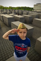 Berlin IV (hassner) Tags: germany berlin jewish memorial boy salute patriot