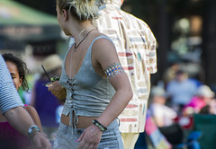 Turn (yowser85) Tags: festivals girl woman dancing diaphonous hippie braless