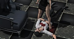 Black Widow (Lance Carthage Lock) Tags: art photography photo murder blood gothic mystery couple love black dark tile belleza second life sl jar jarsephora lock ricci bloody fash fashion blog blogging dead death