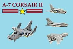 LEGO LTV A-7 Corsair II (Lego Admiral) Tags: lego legoadmiral topgun usnavy jet fighter bomber vietnamwar ltv a7 corsair corsair2 corsairii
