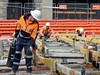 CBD & South East Light Rail - Chalmers Street - Update 12 May 2018 (4) (john cowper) Tags: cselr sydneylightrail chalmersstreet construction concretepour worksite workers altrac transportfornsw sydtrac centralrailwaystation track tracklaying trackslab alignment sydney newsouthwales