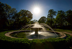 Rose Garden Sunset (KC Mike Day) Tags: garden rose fountain water exposure long daytime filter nd stop 10