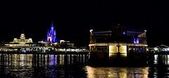Riverboat to the Magic Kingdom (pjpink) Tags: night water lagoon riverboat transportation magickingdom disneyworld disney wdw florida fl march 2018 spring pjpink 2catswithcameras reflection