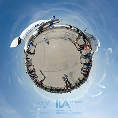 ILA 2018 Little Planet (pedrognecco) Tags: ila berlin 2018 germany deutschland little planet panorama panoramic 360 boeing 7478 airbus a350 airshow planeporn planespotting planephoto planepic avphoto avpic avporn