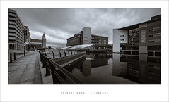 Princes Dock - Liverpool (Parallax Corporation) Tags: sonya7rii sonyfe1635f4 blackwhite architecture liverpool princesdockbridge princesdock liverbuilding wideangle quayside perspective