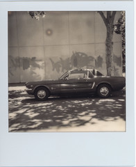 plenty of free parking (Robert Couse-Baker) Tags: bw mustang street nb fordmustang