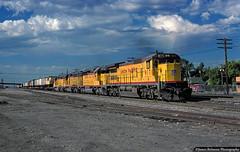 OANPZ on the New Extension (jamesbelmont) Tags: unionpacific ge c408 emd sd402 saltlakecity utah oanpz piggyback trailer railway