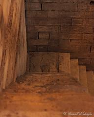 Going Down (Sound Quality) Tags: wwwmichaelwashingtonaecom cairo egypt unesco nilometer nile rawdahisland rawda rawdah architecture down steps egyptian rome travel culture canon canon50d brick