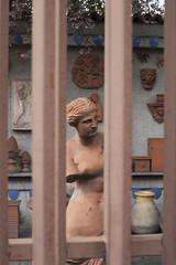 Venere rossa in prigione rossa (SamueleGhilardi) Tags: fornace curti venere statua rosso sbarre prigione