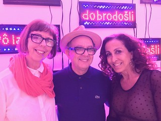 Artists Rosario Marquardt, Roberto Behar and Rebecca Setarch at The Bass Museum opening.