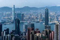 This City pulsates - Hongkong 133/188 (*Capture the Moment*) Tags: 2017 birdsview central cityscape hongkoisland hongkong kowloon panoshot panorama panoramaview panoramablick peak sonya7m2 sonya7mii sonya7mark2 sonyfe70200mmf28gmoss sonyilce7m2 thepeak vogelperspektive vonoben