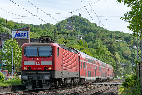 Königswinter DB 143 568 RB27  trein 12518 Mönchengladbach Hbf