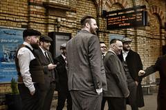 Peaky Blinders (whosoever2) Tags: peakyblinders hat cap jacket warrington station waistcoat men passenger traveller cheshire uk nikon d7100 april 2018