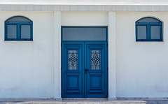 Cyprus, Protaras, April 2018. (CWhatPhotos) Tags: cwhatphotos 2018 april digital camera pictures picture image images photo photos foto fotos that have which contain olympus seafront golden coast beach blue sky skies sunny day holiday cyprus eastern protaras window windows wall walls door doorway white