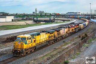 Southbound KCS Intermodal Train at Kansas City, MO