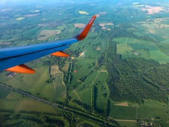 In Plane View (Mad Cow Imagery) Tags: windowseat airlines airline easyjet aircraft aerial airplane landscape hotairballoon fields roads countryside trees mobilephotography appleiphonex iphonexphotography iphonephotography bedfordshire luton england gb greatbritain uk unitedkingdom