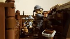 Holding the line at Verdun 1916 (michaelozzie1) Tags: unitedbricks lego ww1 trench