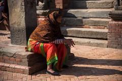Woman in Bhaktapur's Durbar Square (rfabregat) Tags: nepal nepalese asia travel travelphotography bhaktapur kathmandu patan kathmanduvalley nikon nikond750 d750